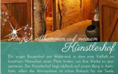Eröffnung des Künstlerhofes Inspiration in Asenham/Höll 1 am 3. August um 14.00 Uhr